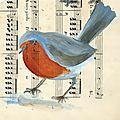 N°16-20 rouge-gorge / robin