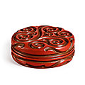 Two cinnabar 'tixi' lacquer, ming dynasty from the kaisendo museum sold at sotheby's hk, 26 may 2021