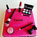 Gâteau maquillage - make up cake