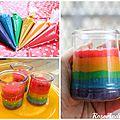 Gâteau arc-en-ciel en bocal (rainbow cakes in a jar, recette + vidéo )
