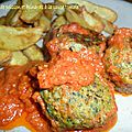 0915 Boulettes de poisson et épinards à la sauce tomate 4