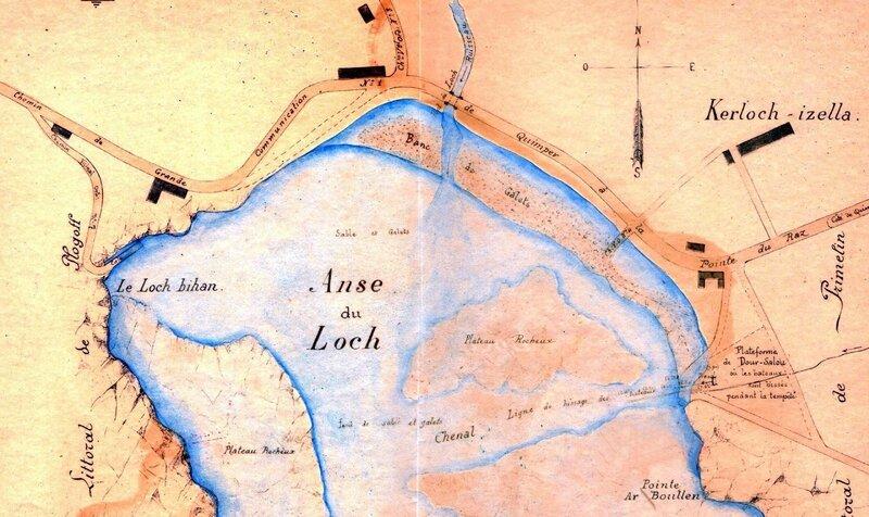 Ch26 - Plan de L'anse du Loc'h en 1903