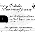 Fancy melody's 1st anniversary (ralph lauren giveaway!)