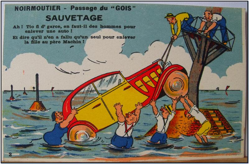 Sauvetage - Noirmoutier - passage du Gois - Gaby