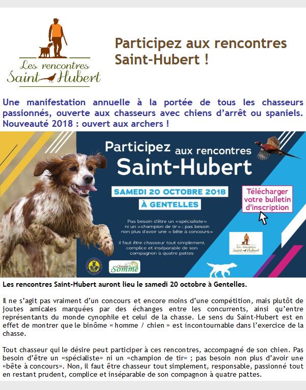 Fédération le 04 10 2018 ST Hubert