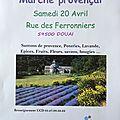 Marché provençal et journée verte à douai