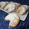 Nüsskipfel, biscuits de noël aux noisettes