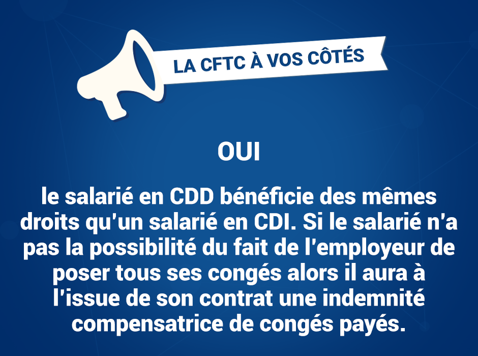 Cdd Et Conges Payes Syndicat Cftc Gifi