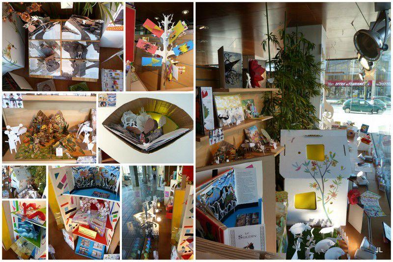 Photos mis en place vitrine enfants dialogues1