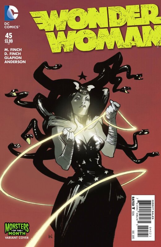 wonder woman 45 monsters of the month variant