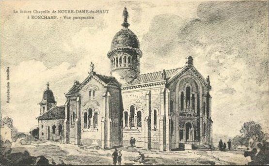 CPA Ronchamp Notre-Dame du Haut 1913 Projet