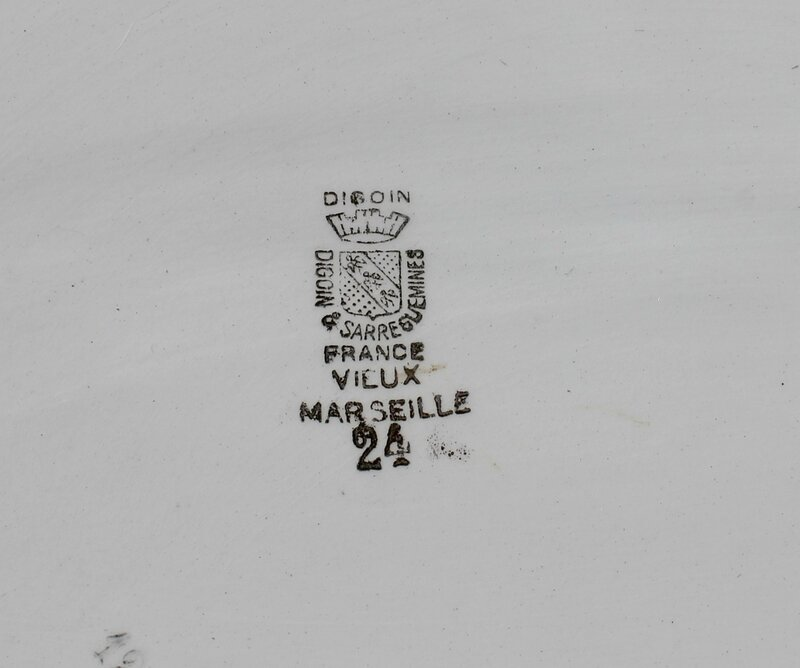 Plat ovale vieux marseille brocante (1)