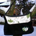 Lovely Bag Green Birds pour Chantal
