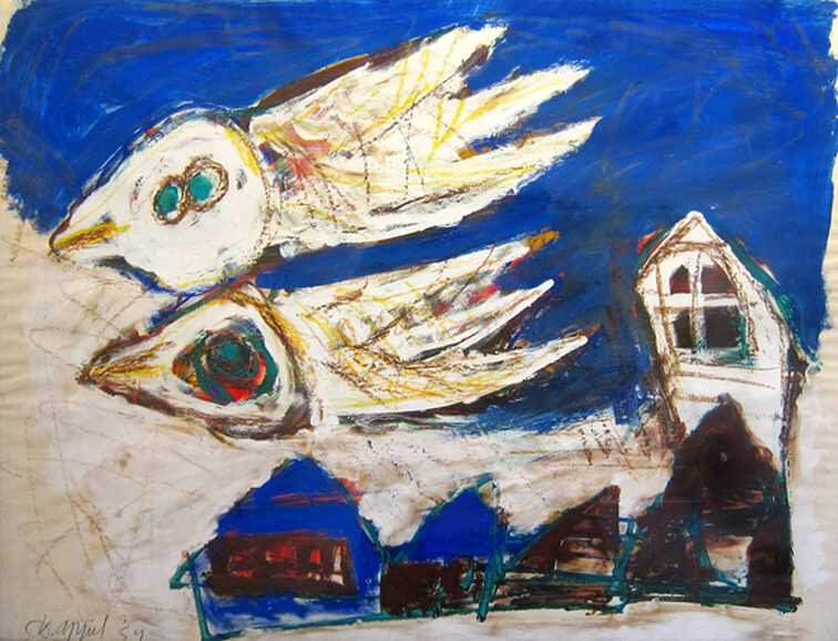 Karel_Appel_Birds_over_the_Village_original