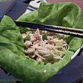 Salade chinoise au poulet, sans gluten et sans lactose