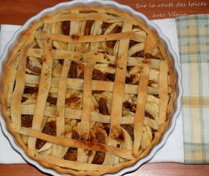Tarte aux pommes et aux figues séchées
