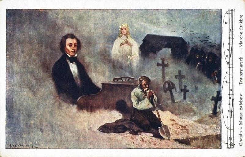CPA Chopin Marche funèbre