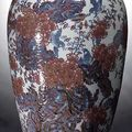 Five copper-red and underglaze blue decorated porcelains @ nagel