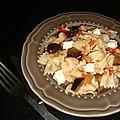 Poêlée végétarienne de pâtes aux senteurs méridionales