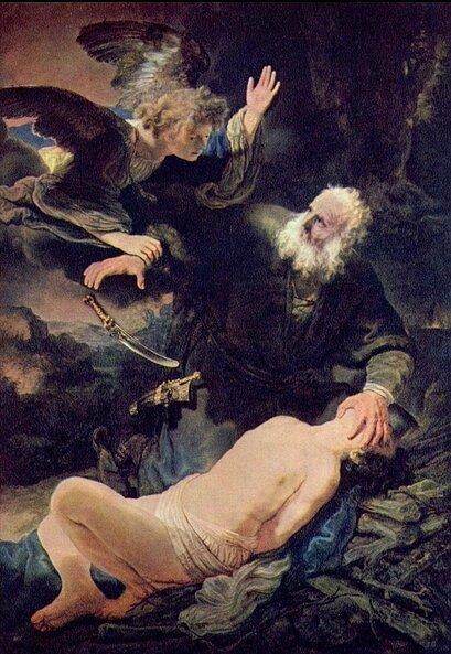 Le sacrifice d'Abraham, Rembrandt-Harmensz-van-Rijn