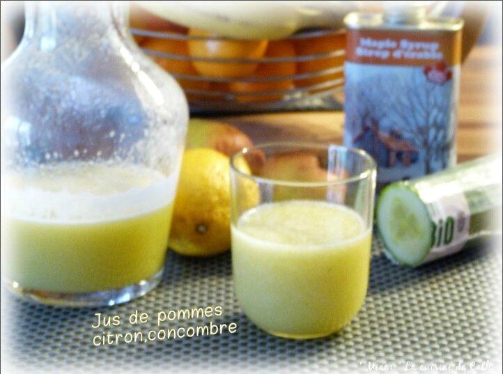 "ღ "" Miam "" Jus de pommes - citron et concombre"