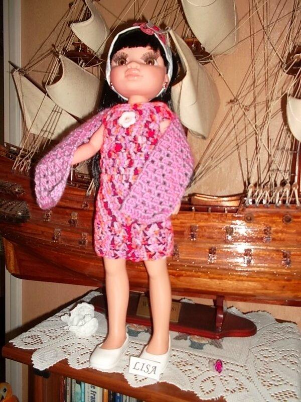 Lisa & son ensemble robe & son châl ouvert ( Odile )