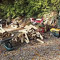 Coupe et fendage de bois