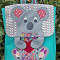 Sac à dos koala - cartable pour la rentrée en ms