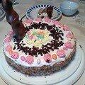 Mon gâteau de paques nid de paques mousse praliné