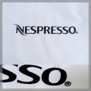 Nappe broderie logo Nespresso