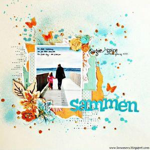 Lift de page n°2 Juillet 2012 Atelier à Scrap l'été s'ra chaud de Lene Neby