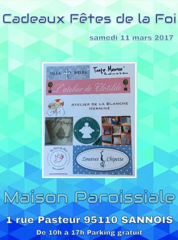 Invitation pour la vente Fêtes de la Foi à Sannois