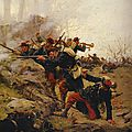 Grolleron, Escarmouche pendant la bataille