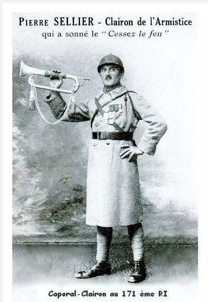 Pierre Sellier clairon de l'Armistice