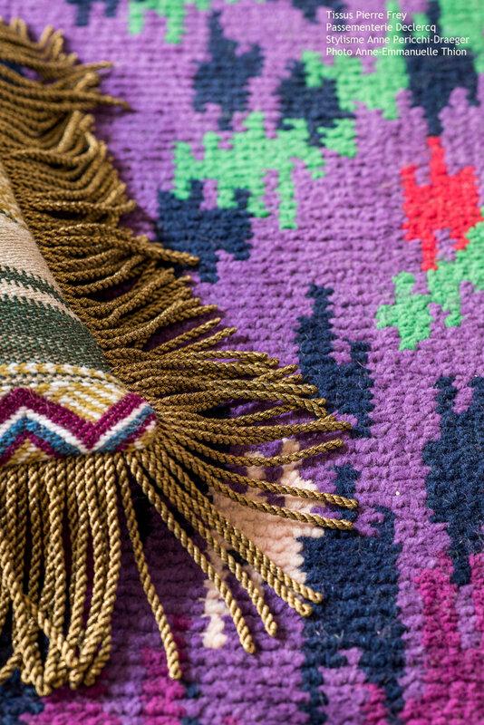 Frange or Declercq Passementiers - tissus @lamaisonpierrefrey - stylisme @anne_pericchidraeger - photo @anneemmanuellethion