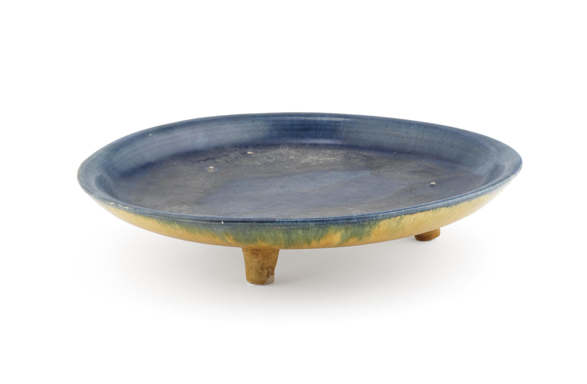A sancai blue-glazed tripod dish Tang Dynasty