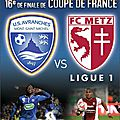 Match avranches vs metz en 16ème de finale de coupe de france sold-out