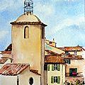 Le clocher de Ramatuelle (29x22) 140€