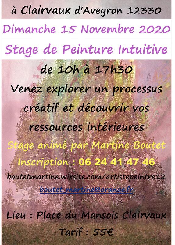 STAGE DE PEINTURE INTUITIVE à Clairvaux d'Aveyron