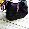 Un sac noir et ...mauve!