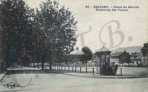 CPA Belfort Place du Marché 1918-25 FIL