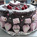 Gâteau avec moule coeur