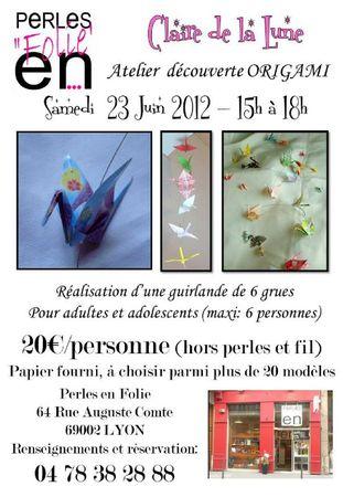 atelier origami 23 juin 2012