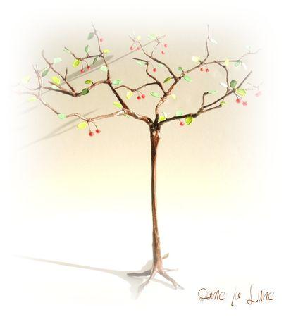 cerisier_creation_dame_la_lune_fil_de_fer_papier_création_originale_cerisier