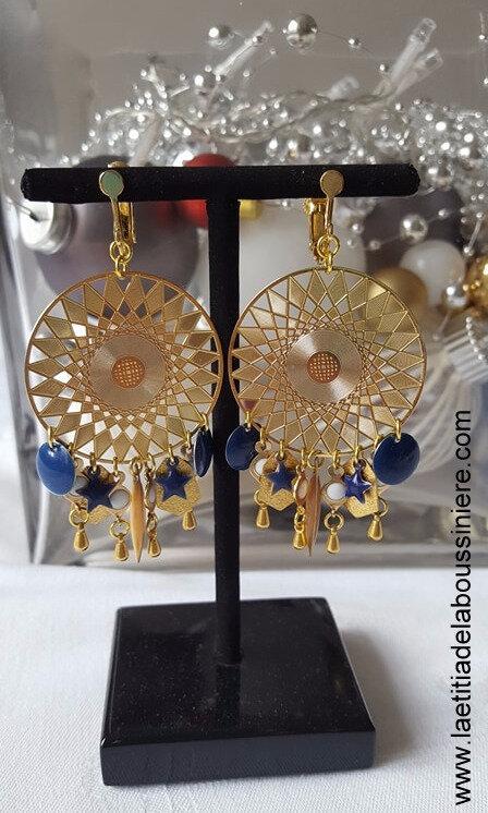 BO Aztèque (bleu nuit et doré) - 37 €