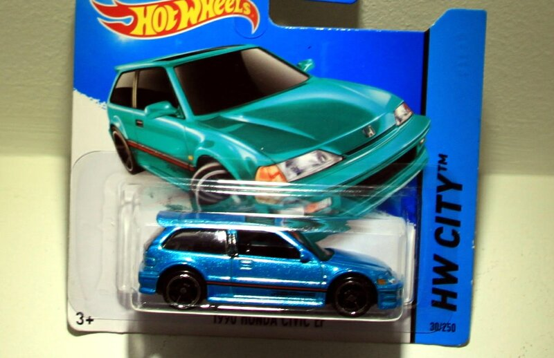Honda civic EF de 1990 (2014)(Hotwheels)