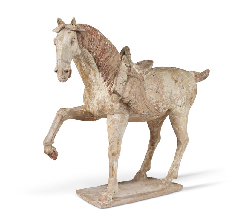 A large painted pottery figure of a horse, Tang dynasty (AD 618-907)