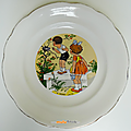 Collection ... assiettes parlantes scenes d'enfants * digoin sarreguemines