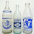Vintage ... ancienne bouteille de lait *