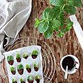 Café ou thé gourmand : les feuilles de menthe enrobées de chocolat noir (recette minceur)